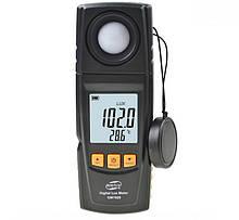 Вимірювач освітленості-люксметр + термометр, USB 200000 Lux BENETECH GM1020