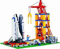 Космодром Brick – увлекательный конструктор для мальчиков, с подвижными элементами, шаттл