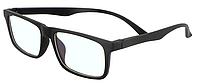 Комп'ютерні окуляри Blue blocker, окуляри для комп'ютера, окуляри для роботи за комп'ютером, чорний пластик, унісекс