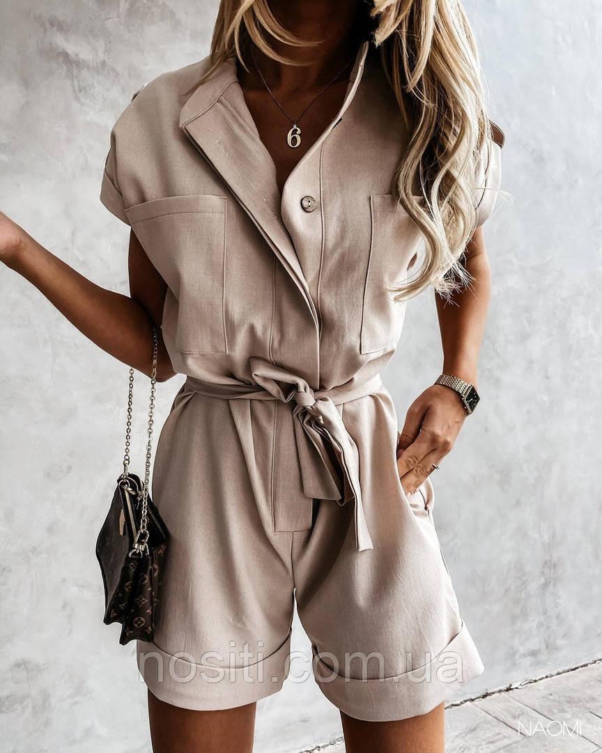Літній жіночий комбінезон з шортами