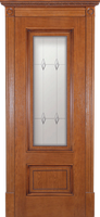 Белорусские двери Йорк коньячный дуб с золотом