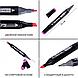 Набір скетч-маркерів 24 шт. для малювання двосторонніх Touch в чорній сумочці, фото 5