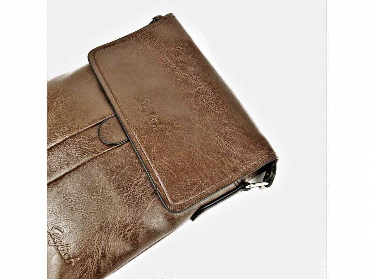 Мужская сумка мессенджер «Splash»в коричневом цвете. Сумка через плечо мужская коричневая