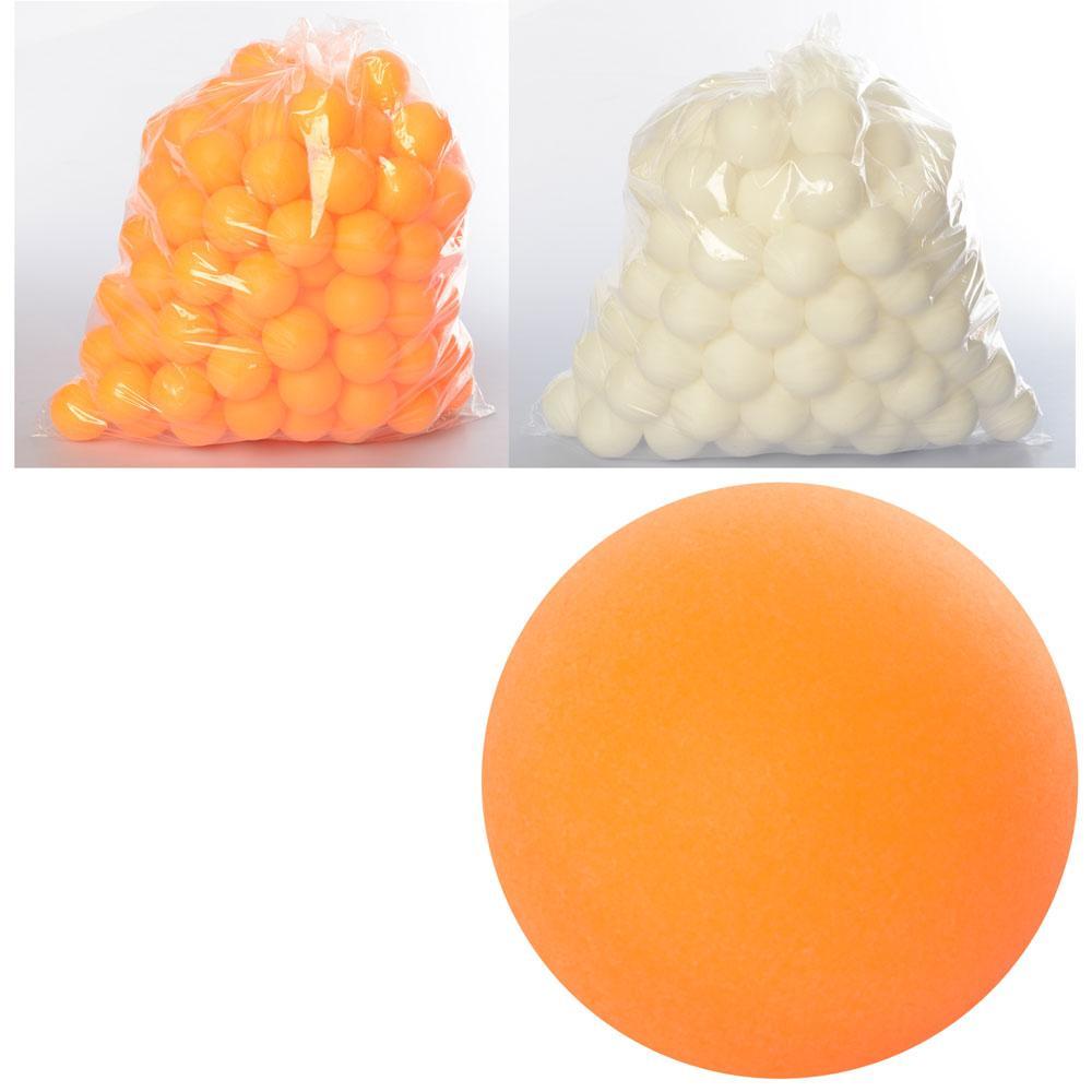 Теннисные шарики MS 0451  40мм, PP, шовный, 1 упаковка 144шт, 2 цвета