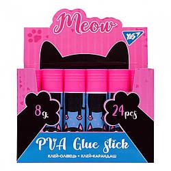 """Клей-олівець YES, 8г, PVA """"Meow"""""""