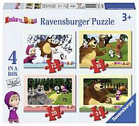 """Ravensburger Пазл-4в1 """"Маша і ведмідь"""""""