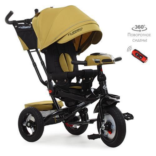 Трехколесный велосипед M 4060HA-24 Turbotrike, USB, свет, поворотное сиденье