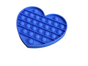 Антистрес PopAr сенсорна іграшка Синє серце