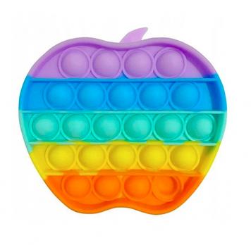 Іграшка антистрес сенсорна вічна пупырка Pop It Поп Іт Веселка Яблуко (tdd035-hbr)