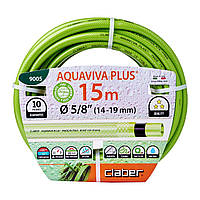 "Шланг для поливу Claber Aquaviva Plus 9005, 15 м 5/8"" зелений"