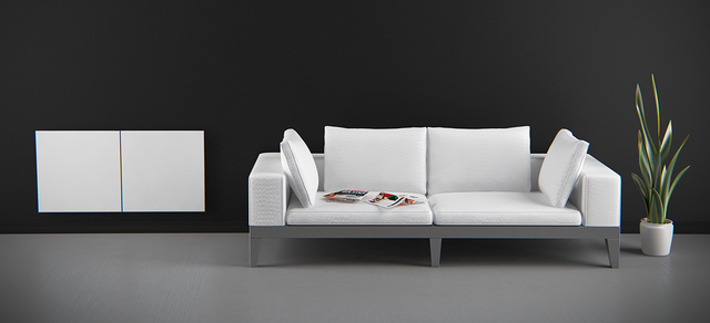 Керамический электрический панельный обогреватель Opal 375 | цвет белый
