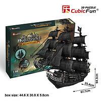 """CubicFun Трехмерная головоломка-конструктор """"Корабль Черной бороды. Месть Королевы Анны"""" (большой)"""