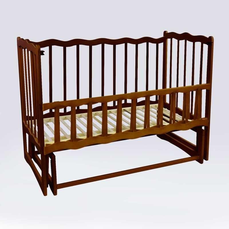 Детская кроватка Волна, цвет тёмно-коричневый