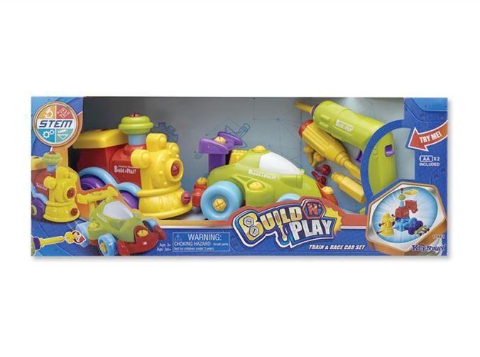 "Конструктор Keenway ""Build'n'Play"" машина+паровоз"