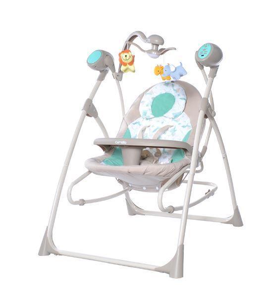 Крісло-гойдалка Carrello Nanny CRL-0005, колір Azure Beige