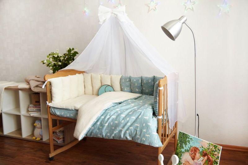 """Детский постельный комплект Добрый Сон """"Eco"""", цвет мята"""