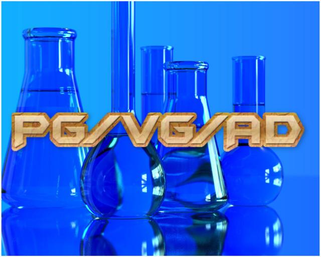 Компоненты для приготовления жидкости электронных сигарет PG, VG