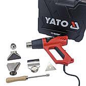 Фен технический YATO 2 кВт 350°/550° 300/500 л/мин кейс, регулятор температуры + 4 насадки