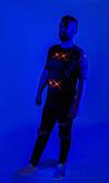 Светящаяся Футболка с принтом  Арт 006 Бесконечность