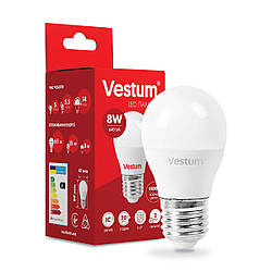 Світлодіодна лампа Vestum G45 8W 4100K 220V E27 1-VS-1209