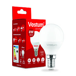 Світлодіодна лампа Vestum G45 8W 4100K 220V E14 1-VS-1211