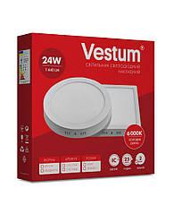 Квадратний світлодіодний накладний світильник Vestum 24W 6000K 220V 1-VS-5404