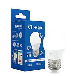 Светодиодная лампа Lectris G45 9W 4000K 220V E27 1-LC-1206
