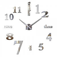 Часы настенные 3D Diy ZH015 Средние Серебро SKL79-240783