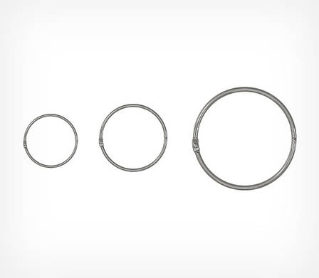 Кольцо металлическое защелкивающееся M-RING-251048, фото 2