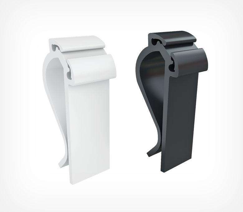 Пластиковый держатель-зажим MIDICLIP-202304