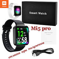 Умные Smart Watch смарт фитнес браслет часы трекер Mi5 PRO ПОШТУЧНО на РУССОКОМ стиль Xiaomi SAMSUNG Apple 3, фото 1
