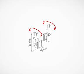 Крючок с подвижным основанием для подвешивания пластиковых рамок MF-CLIP-102215, фото 2