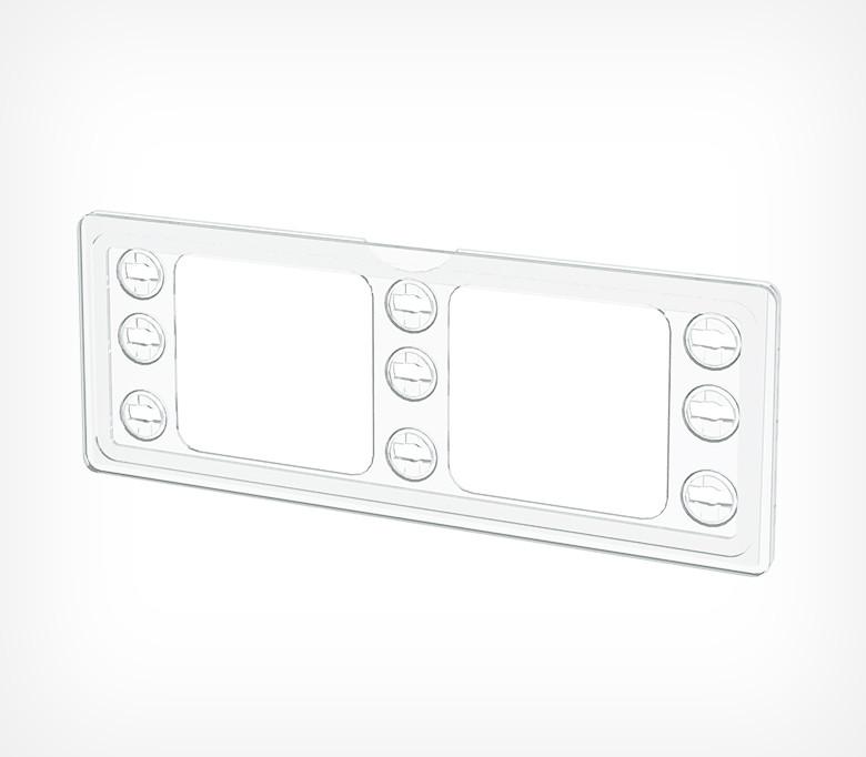 Пластиковая рамка серии ТЕХНО МИНИ формата 210 x 74 мм TM 1/4 А4-112060