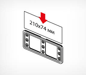 Пластиковая рамка серии ТЕХНО МИНИ формата 210 x 74 мм TM 1/4 А4-112060, фото 2