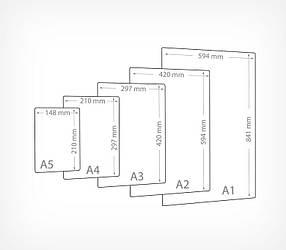 Черная табличка для нанесения надписей А1-А5 BB (A1-A5)-101040, фото 2