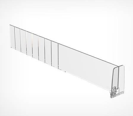 Пластиковый разделитель высотой 60 мм c передним ограничителем DIV60-ВT60-270035, фото 2