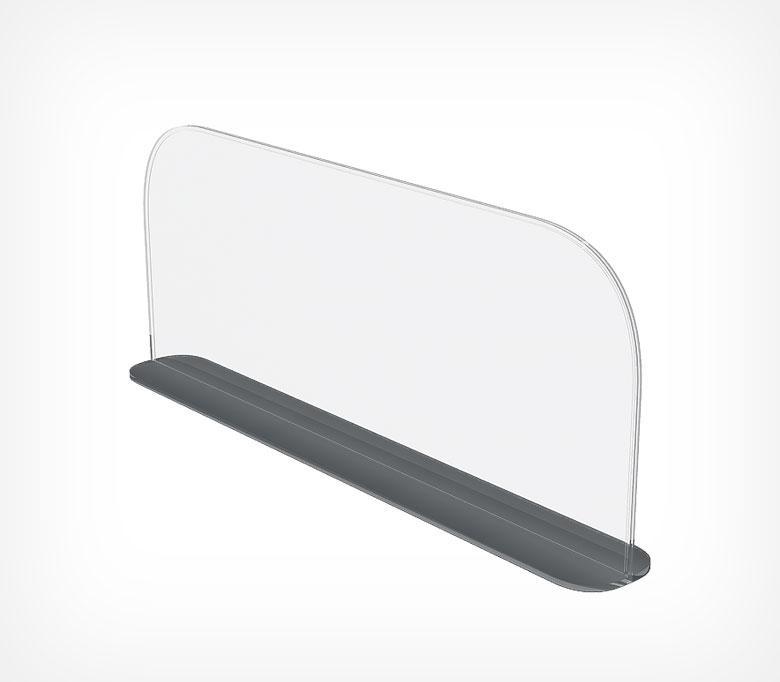 Роздільник пластиковий висотою 150 мм на Т-підставі c магнітним скотчі DIVT-150-TM-270085
