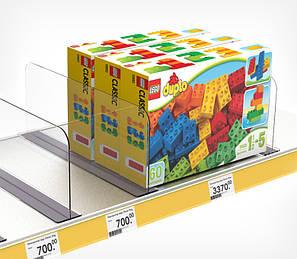 Роздільник пластиковий висотою 150 мм на Т-підставі c магнітним скотчі DIVT-150-TM-270085, фото 2