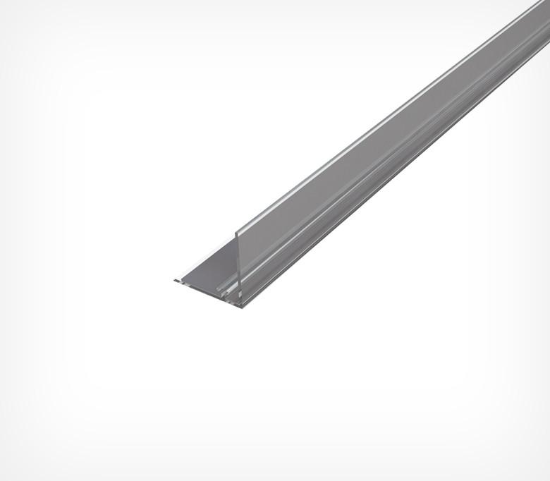 Обмежувач передній пластиковий висотою 30 мм з Т-профілем на магнітній стрічці L-RAIL 30-TM-270082