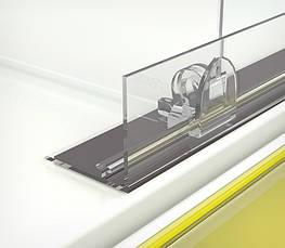 Обмежувач передній пластиковий висотою 30 мм з Т-профілем на магнітній стрічці L-RAIL 30-TM-270082, фото 2