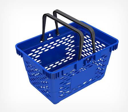 Пластиковая корзинка с двумя ручками CLASSIC-410045, фото 2