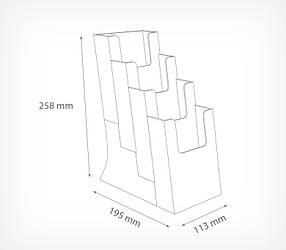 Буклетниця настільна з 4-ма кишенями DISP-SET формат 1/3 A4 DISP-SET-186021, фото 2