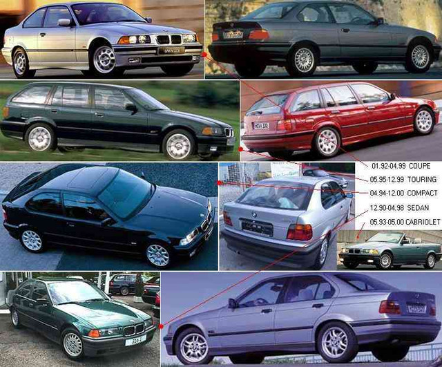 Кузовные запчасти и оптика bmw 3 e36 90-99, bmw 5 e39