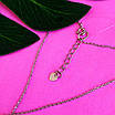 Серебряное колье галстук с монеткой - Серебряное колье монетка, фото 3