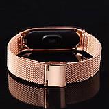 Ремешок Mesh steel design bracelet для фитнес-браслета Mi Band 3 и 4 Rose gold New, фото 2