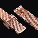 Ремешок Mesh steel design bracelet для фитнес-браслета Mi Band 3 и 4 Rose gold New, фото 3