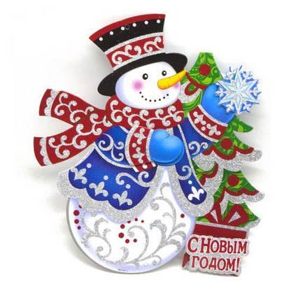 """Новогоднее украшение """"Снеговик"""" C30245"""