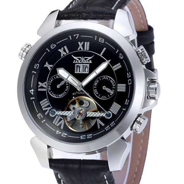 Чоловічі наручні годинники Jaragar Turboulion Silver