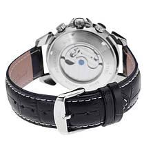 Чоловічі наручні годинники Jaragar Turboulion Silver, фото 3