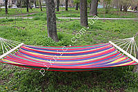 Семейный подвесной гамак с планкой 200*150см Гамак двухместный для дома дачи сада №5 353